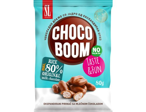 Чоко Бум чоколадно драже со јадро од експандиран ориз 60г