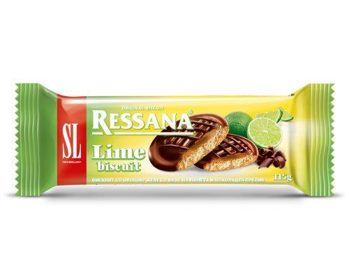 Ресана бисквит со желе од лимета и чоколаден прелив 115г